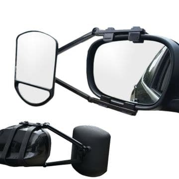CARAVAN / CAR DUAL LENS SWIVEL TOWING MIRROR wing van 4 x 4 trailer twin lens